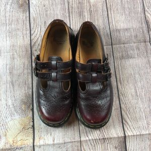 Brown Leather Doc Dr. Martens Mary Jane Shoes